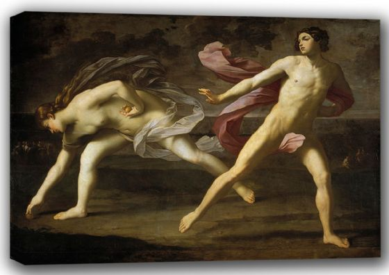 Reni, Guido: Atalanta and Hippomenes. Fine Art Canvas. Sizes: A4/A3/A2/A1 (002098)
